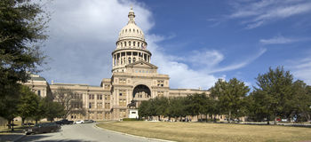 Capitol d'état du Texas (2-piece panoramiques) photos libres de droits