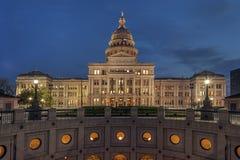 Capitol d'état du Texas la nuit Image stock