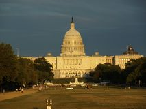 The capitol in dc during sunset Stock Images