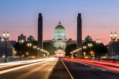 Capitol de rue d'état Images libres de droits