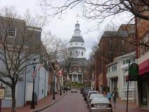 Capitol del estado de Annapolis imagenes de archivo