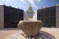 Capitol die van de staat van Oklahoma de V.S. bouwen Stock Foto's