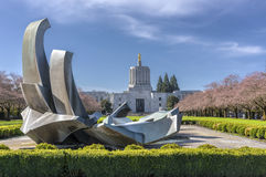 Capitol do estado que constrói Salem Oregon Fotos de Stock