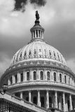 Capitol Dome. A black and white photo of lady Freedom on top of the dome of the Capitol Royalty Free Stock Photo