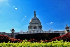 Capitol on a hot summer day stock photo