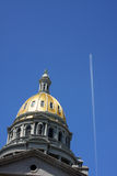 Capitol Dome and plane. Capitol dome in Denver, Colorado with plane flying over Stock Photography