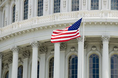 Capitol Flag Stock Photography
