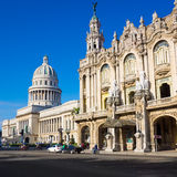 The Capitol and the Great Theater of Havana Royalty Free Stock Image