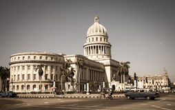 Capitol, Havana - vintage Royalty Free Stock Photography