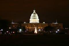 Capitol Hill bij nacht Stock Afbeelding