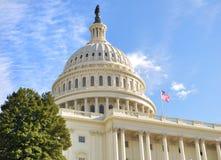 Capitol Hill Building. Washington DC. against a blue sky stock photo