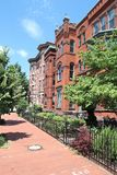 Capitol Hill. Residential street in Washington DC, USA. Colorful townhouses stock image