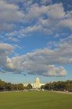 Capitol Hill davanti alla costruzione del Campidoglio Immagine Stock