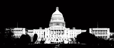 Capitol Hill de V.S. Royalty-vrije Stock Fotografie