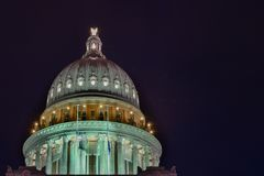 Capitol Hill At Night royalty free stock images