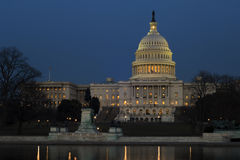 Capitol Hill at night Stock Photos