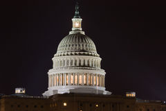 Capitol Hill at night Royalty Free Stock Image