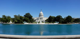 Capitol Hill panorama, Washington, DC Royaltyfri Bild