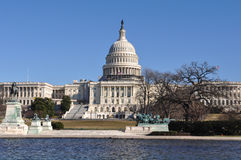 Capitol Hill Receiving Repairs Royalty Free Stock Images