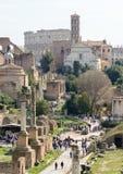 Capitol Hill roma Italy 12 março 2017 Vista do fórum romano fotos de stock