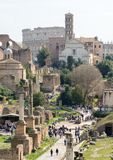 Capitol Hill. Rome. Italy. 12. March. 2017. View of the Roman Forum. stock photos