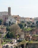 Capitol Hill rome l'Italie 12 marche 2017 Vue du forum romain images stock