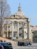 Capitol Hill rome l'Italie 12 marche 2017 Vue du forum romain photo stock