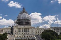 Capitol Hill, sob a renovação Imagens de Stock Royalty Free