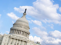 Capitol Hill med kopierar utrymme Arkivbilder