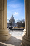 Capitol Hill through the Supreme Court Stock Photo