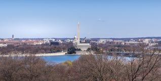 Capitol Hill, Washington Mornument e Lincoln Memoria Fotografia Stock