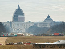 Capitol i biblioteka kongresu Zdjęcie Royalty Free