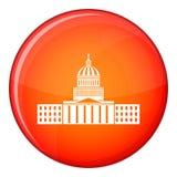 Capitol icon, flat style Royalty Free Stock Photo