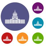 Capitol icons set Stock Images