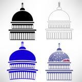 Capitol ikony royalty ilustracja