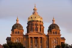 capitol Iowa stan zdjęcia royalty free