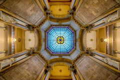 Capitol kopuły wnętrza symetria Zdjęcia Stock