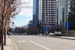 Capitol Mall Sacramento Stock Photo