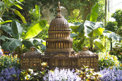 Capitol Miniature in botanic gardens Royalty Free Stock Photo