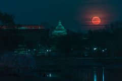 Capitol Moon Rising Stock Photo