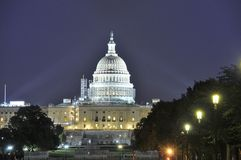 Capitol at night Royalty Free Stock Images