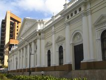 Historic building of Capitol or Federative Legislature Palace better know as National Assembly in downtown Caracas Venezuela. The Capitol Palace or National royalty free stock photos