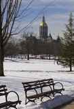 Capitol Park. Connecticut State Capitol Building from Bushnell Park, Hartford Royalty Free Stock Photo