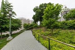Capitol Park in downtown Harrisburg, pennsylvania.  Stock Photos