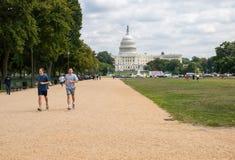 Capitol park przy washington dc i budynek obraz royalty free