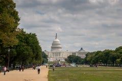 Capitol park przy washington dc i budynek fotografia royalty free