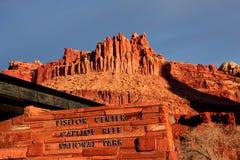 Capitol parka narodowego gościa Rafowy centrum obraz stock