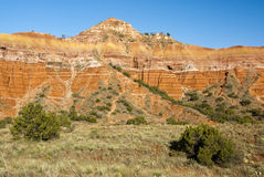 Capitol Peak. In Palo Duro Canyon State Park in Texas Stock Image