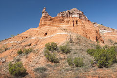 Capitol Peak in Palo Duro Canyon. State Park in Texas Stock Photos