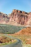 Capitol Rafowy park narodowy, Utah, niebieskie niebo Fotografia Royalty Free